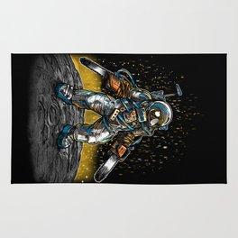 Texas Chainsaw Astronaut Rug
