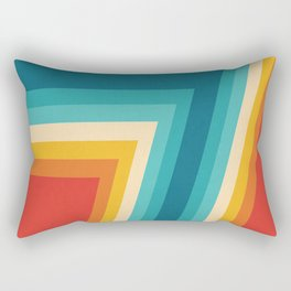 Colorful Retro Stripes  - 70s, 80s Abstract Design Rectangular Pillow