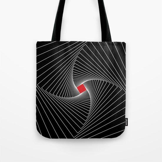 White, black, red - Optical Game 26 Tote Bag