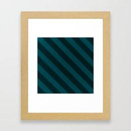 Vintage Candy Stripe Turquoise Teal Grunge Stripes Framed Art Print