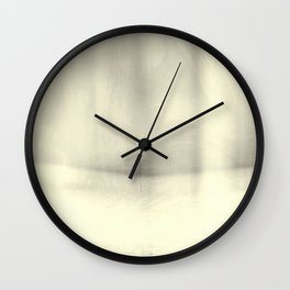 Modern Abstract Landscape, Silver, Muted Tones, Monochromatic, Minimalist, Photography, Pastel Wall Clock