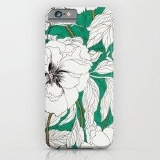 green peonies Slim Case iPhone 6