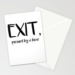 Exit, pursured by a bear - Shakespeare Stationery Cards