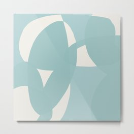Abstract in dusty light blue and neutral shades Metal Print