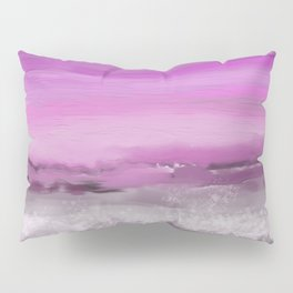 Pink and Purple Abstract Seascape Pillow Sham