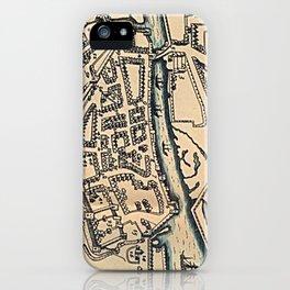 Vintage Map of Dublin Ireland (1610) iPhone Case