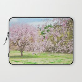 cherry blossoms blooming in a fantastic garden Laptop Sleeve