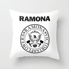 Ramona - White Throw Pillow
