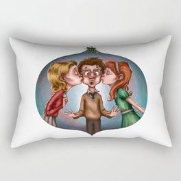 Boy's Mistletoe Surprise Rectangular Pillow