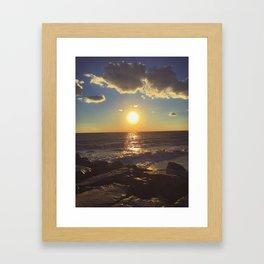 Cape May Jetty Sunset Framed Art Print