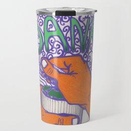 DANK cannabis marijuana 420 weed grinder tapestry Travel Mug