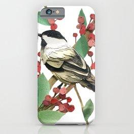 Berry Nice Chickadee iPhone Case