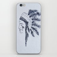 native american iPhone & iPod Skins featuring Native American by Anna Flowers