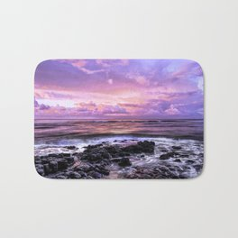 Purple Sunrise, Poipu Beach, Kauai, Hawaii Bath Mat