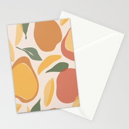 Modern Abstract Mango Pattern Stationery Cards