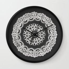 Grandma's Doily Wall Clock