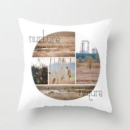 nurture|nature Throw Pillow