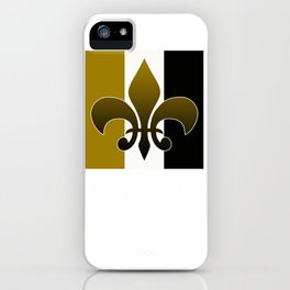 Black and gold fleur de lis iPhone Case