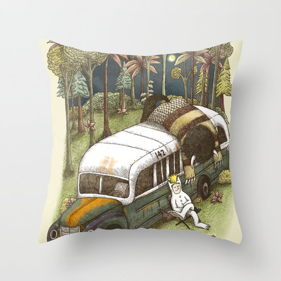 Into The Wild Things Throw Pillow