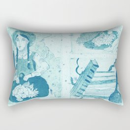 Anne of Green Gables Blue Rectangular Pillow