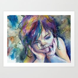 Watching Rainbows Art Print