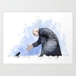 Bird Man Art Print