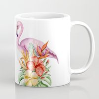 flamingo Mugs featuring Flamingo by Julia Badeeva