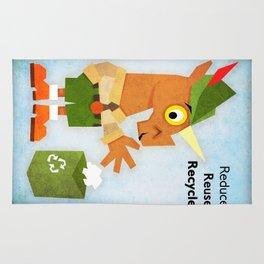 Reduce Reuse Recycle Unicorn Rug