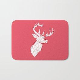 geometric deer Bath Mat