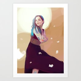 Tattooed Girl Art Print