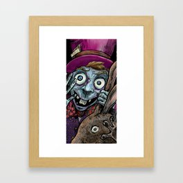 Hi Dear, We miss you come into the glass!!! Framed Art Print