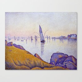 Paul Signac Evening Calm, Concarneau, Opus 220 Canvas Print