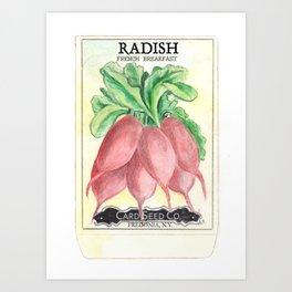 Radish Seed Packet Art Print