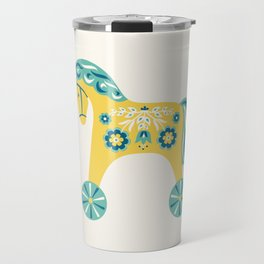 Swedish Toy Horses Travel Mug