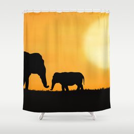 Parenting on the Horizon Shower Curtain