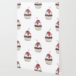Chubby Bunny on a cupcake Wallpaper