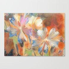 Abstract Wild Geraiums Canvas Print