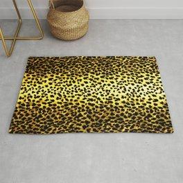 Leopard Print Animal Wallpaper Rug