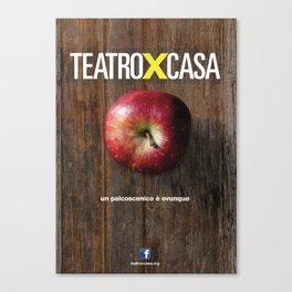 Teatroxcasa (mela) Canvas Print