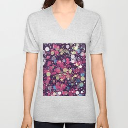 Abstract 34 Unisex V-Neck