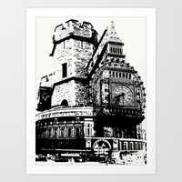 London Composite Stamped Ink - London Series Art Print