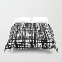 striped Duvet Covers featuring striped by nionio.design