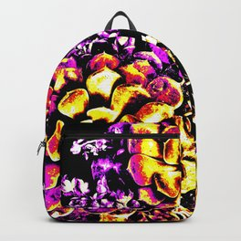 Purple Yellow Flower Plant, Pop Art Backpack