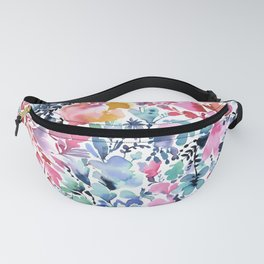 Magic flowers and nature watercolor - Multicolored Fanny Pack