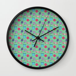 Happy Yarn Knitting Wall Clock