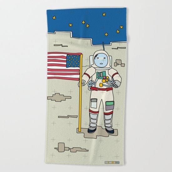 Moon Astronaut 1969 Beach Towel