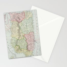 Vintage Map of Puerto Rico (1901) Stationery Cards