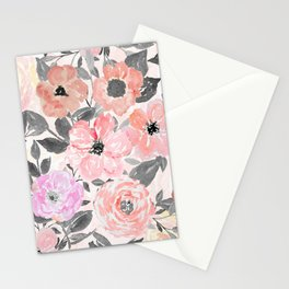 Elegant simple watercolor floral Stationery Cards