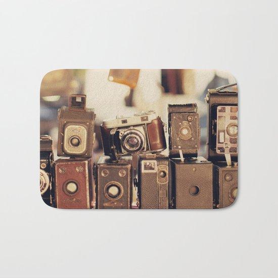 Old Cameras (Vintage and Retro Film Cameras Collection) Bath Mat
