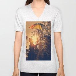 sunshine umbrella Unisex V-Neck